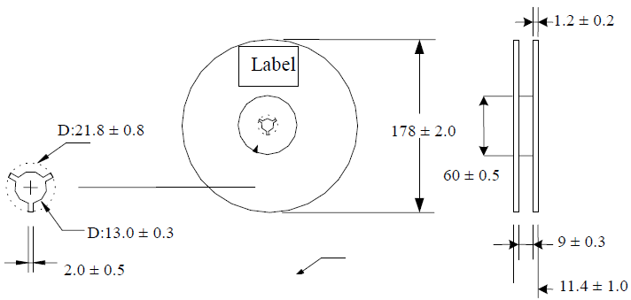 chip capacitor reel dimensions